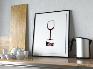 Vin Wine Kök poster