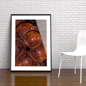 scales fraktal fine art poster