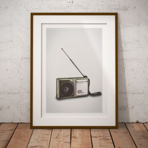 radio retro fine art poster