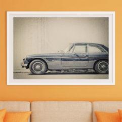 M.G.B GT -66 fine art poster