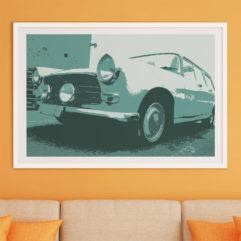 Peugeot 404 fine art poster