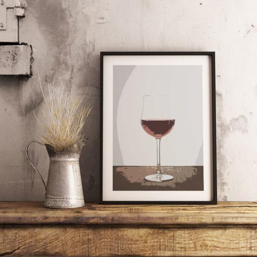 Poster Vin Glas