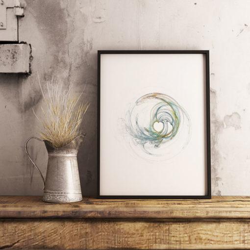 abstrakt hjärtat fine art poster