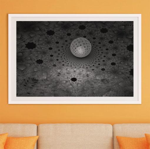 fraktal klot fine art poster