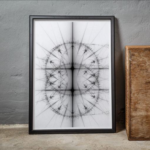 Cirklar fraktal fine art poster