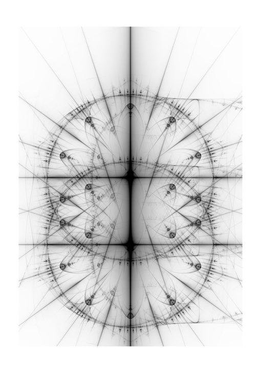 cirklar fraktal flamma poster