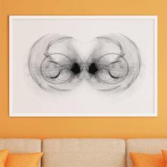 fraktal ögon flamma fine art poster