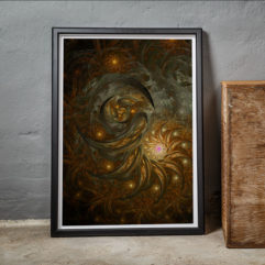 poster fraktal fine art