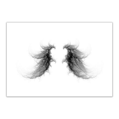 vingar fraktal fine art poster