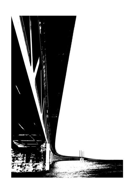 öresundsbron svartvit poster