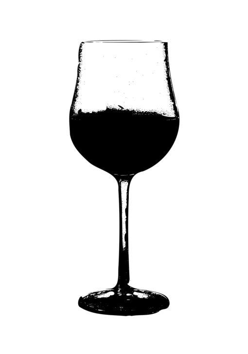 glaset vin poster