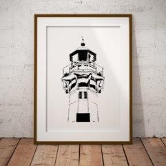 lighthouse poster fine art fyr