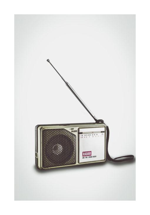 radio retro fine art poster