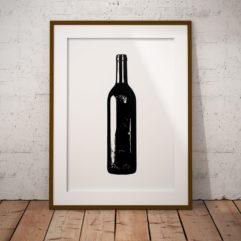 vinflaska poster flaskan