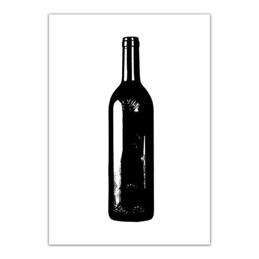 vinflaska poster