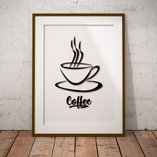 coffee kaffe fine art poster