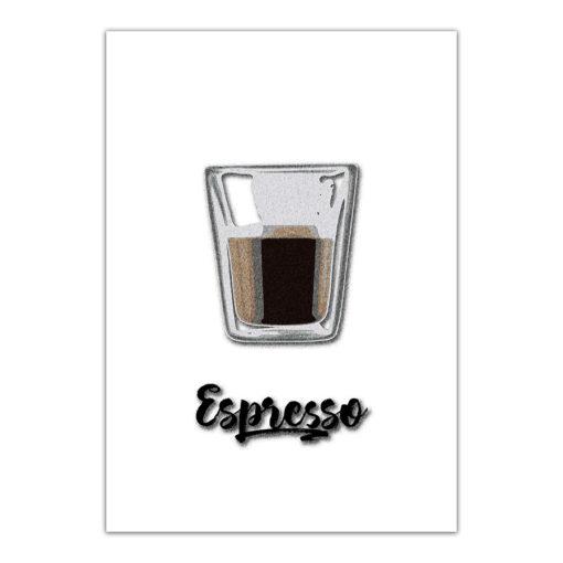 espresso kaffe fine art poster