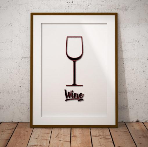wine vin fine art poster