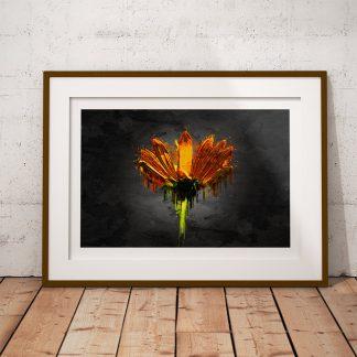 blomma orange poster