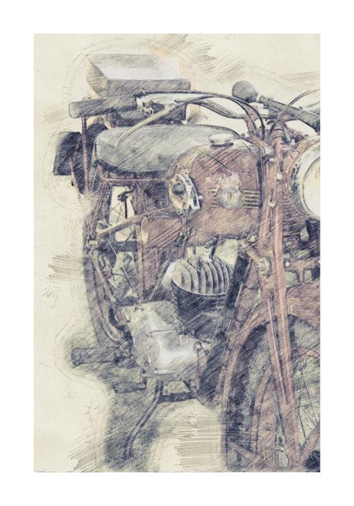 Röda Faran motorcykel poster
