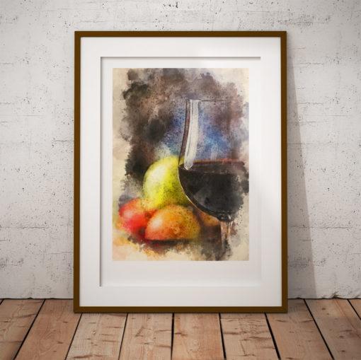 vin och frukt poster