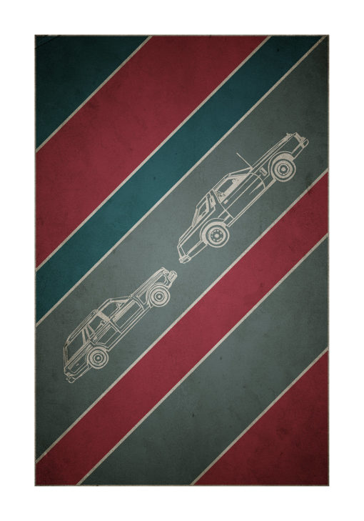 retro bilar poster
