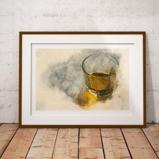 whisky livets vatten poster