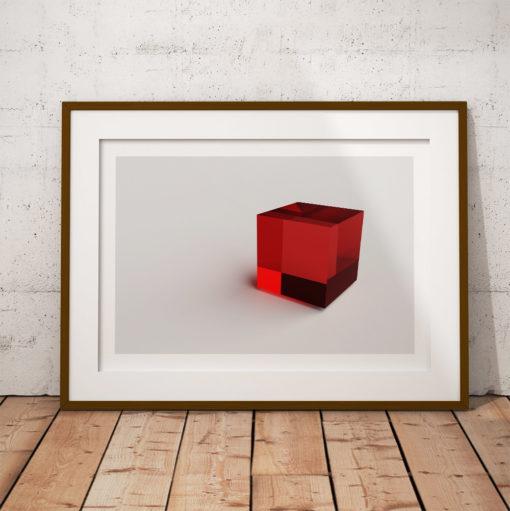 kuben kub 3d poster