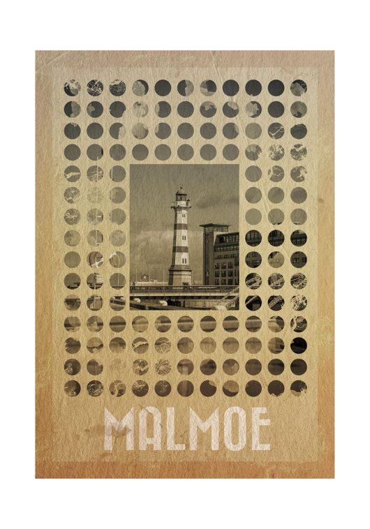 Malmoe Retro poster malmö