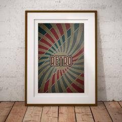 starburst retro poster