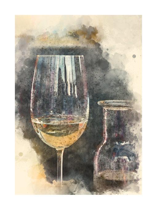 Vitt vin poster
