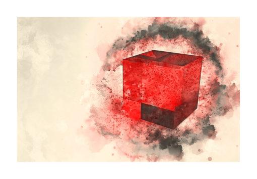 kuben 3d poster