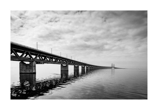 öresundsbron poster svartvit