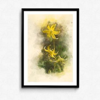 Vår blomma gul poster