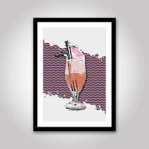 cocktail poster popart popkonst