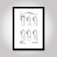 toalettpapper patentritning poster