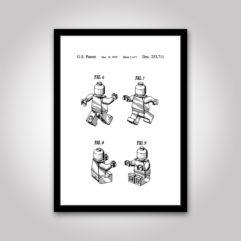 patentritning lego figur poster