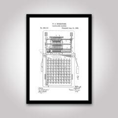 kalkylator patentritning poster