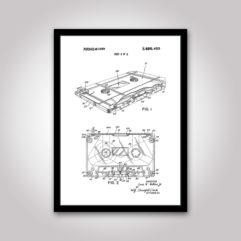 kassett kassettband patentritning poster