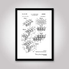 patentritning lego kloss poster