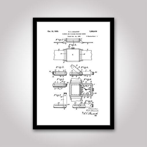 reverso patentritning Jaeger-LeCoultre poster