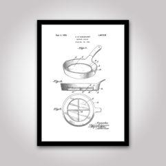 Stekpanna patentritning poster
