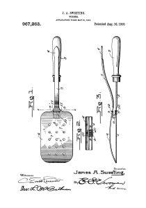 stekspade patentritning poster