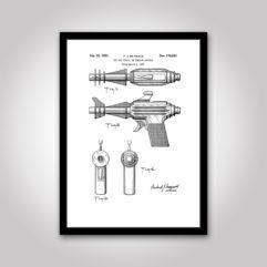strålpistolen patentritning poster