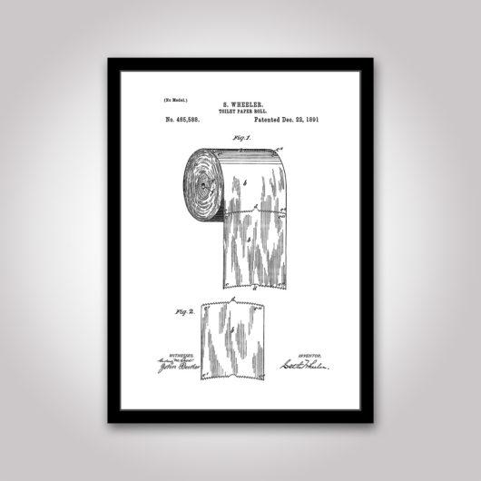 patentritning toalettpapper poster