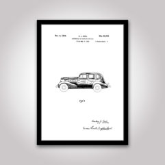 automobile patentritning poster