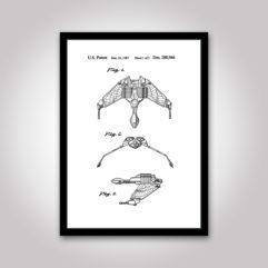 Bird Of pray star-trek patentritning poster