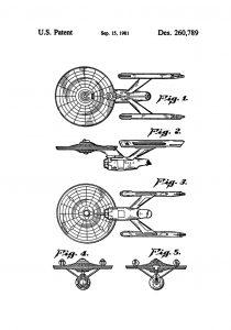 enterprise ncc-1701-a patentritning poster