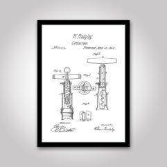 korkskruv patentritning poster