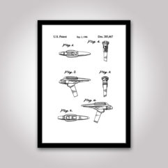 phaser star-trek patentritning poster
